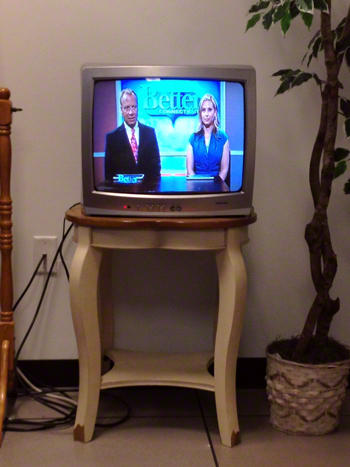TV in the green room.jpg